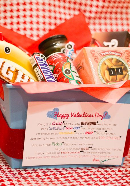 cute valentine poem and package...similar to the candy bar card