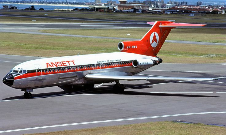 Ansett Airlines of Australia - in the 'delta' livery at Perth Airport, March 1977.