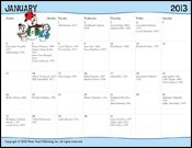 """FREE Calendar of Musicians' & Composers' Birthdays - 2013 on MusicK8.com - Great for """"Composer of the Month"""" ideas!"""