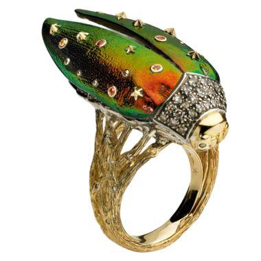 Bibi van der Velden Flying Scarab ring