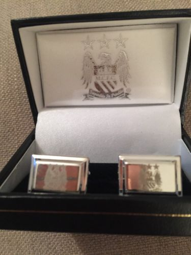 #Manchester city fc #men's #stainless steel cufflinks new official merchandise (f,  View more on the LINK: http://www.zeppy.io/product/gb/2/142230954329/