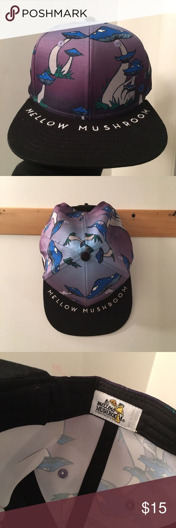 Mellow Mushroom SnapBack Never worn. Brand new. Super cute. From the Mellow Mushroom pizza company. $22.95 not including shipping on their website. Accessories Hats