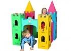 levensgroot kartonnen kasteel om zelf te personaliseren