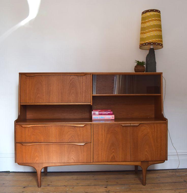 Teak Retro  Bureau / Cabinet,Mid Century Design,
