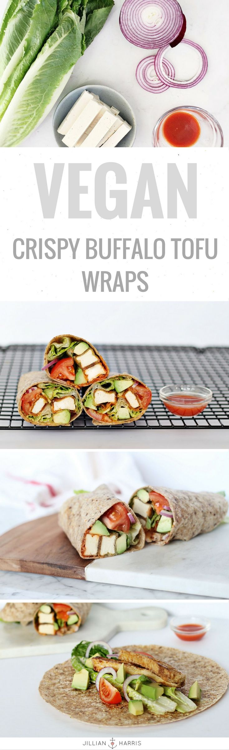 My recipe for my favourite Vegan Crispy Buffalo Tofu Wraps is now on the blog!