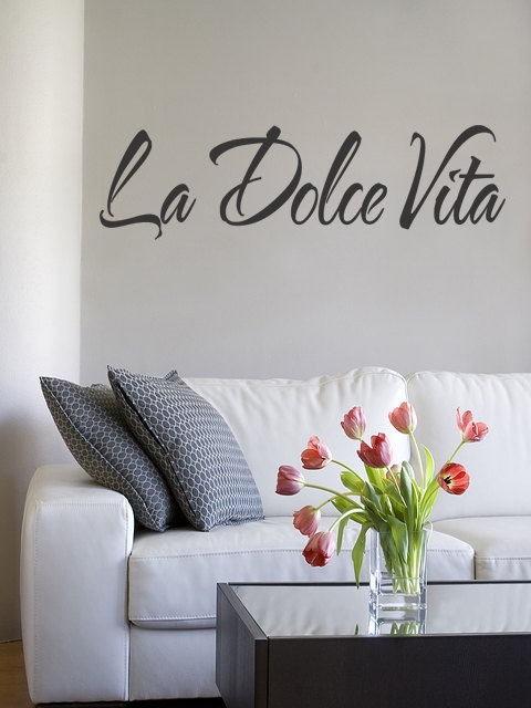 The Sweet ife La Dolce Vita Wall Italian Decal Stic Vinyl Decal Quote Removable  Removable Quote Art (144). $14.99, via Etsy.