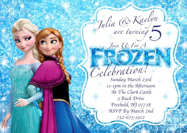 photo regarding Frozen Birthday Card Printable identify Birthday Invitation Templates Frozen Birthday Invites