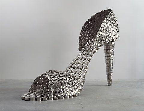 Sculpture by Joana Vasconcelos: Joan, Joanavasconcelo, Shoes Fetish, Artists Portuguai, Joana Vasconcelos, High Heels, Portugu Artists, Joanna Vasconcelo, Stainless Steel