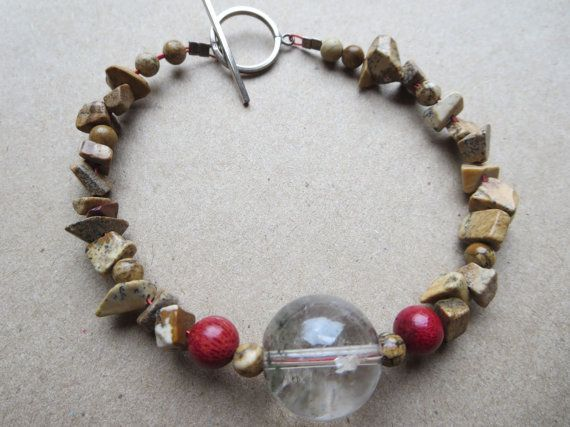 Hey, I found this really awesome Etsy listing at https://www.etsy.com/listing/102460893/red-sponge-coral-gemstone-bracelet