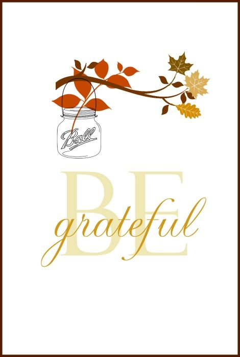 Be Grateful Free Fall Printable