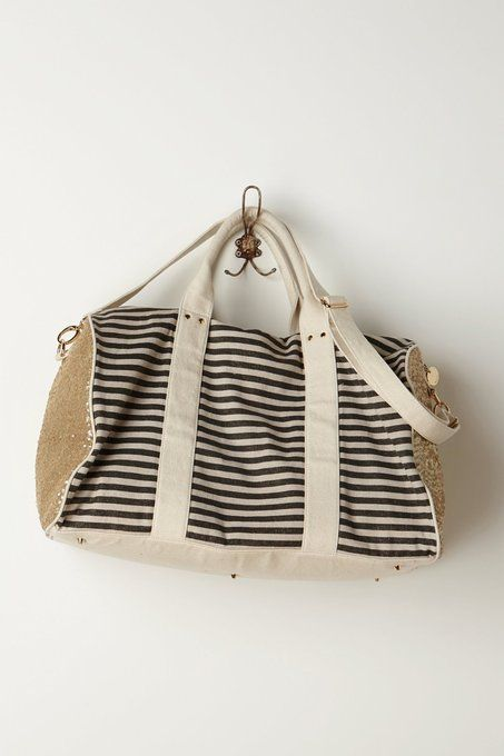 Striped & Sequined Weekender by Deux Lux