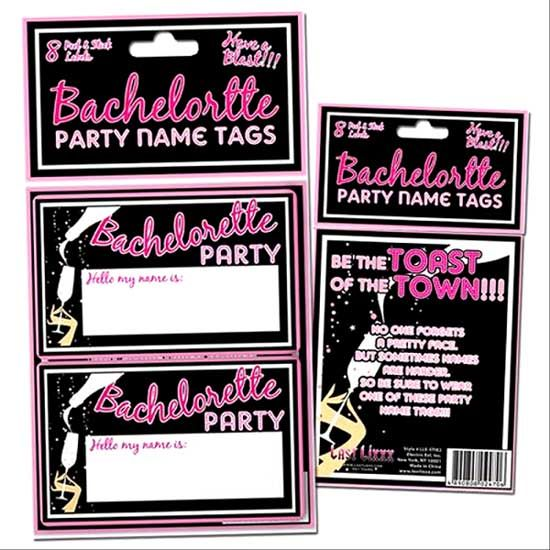 Bachelorette Party Favors - Toast of the Town Bachelorette Name Tags
