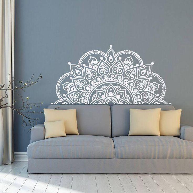 Mandala Wandaufkleber Vinyl für Dein Wohnzimmer o…
