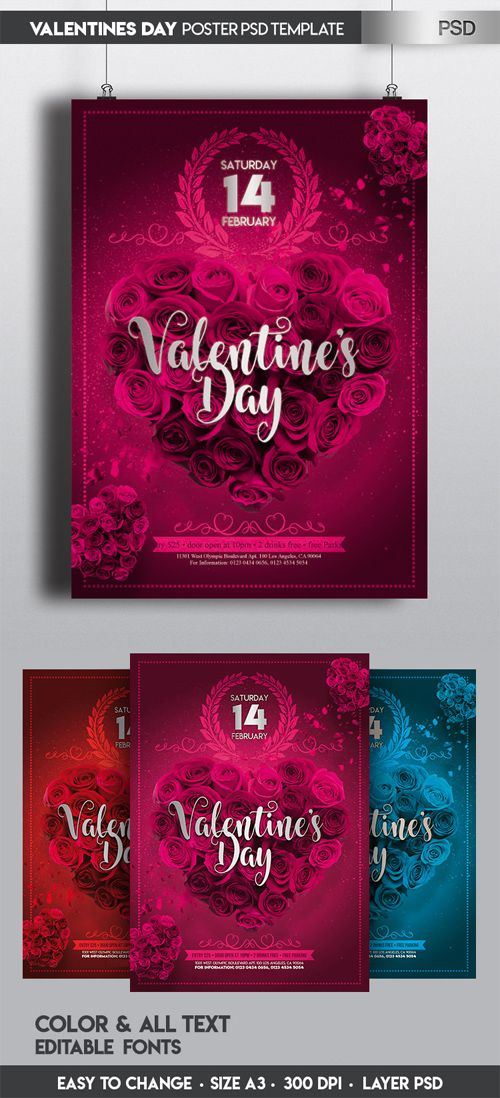 Valentine's Day Poster in PSD Free Download http://ift.tt/2nau6T7