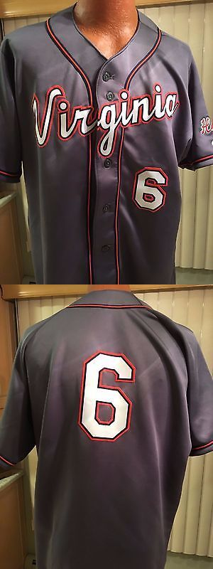 Baseball Shirts and Jerseys 181336: Rawlings College Game Day Baseball Jersey Univ. Virginia Mens 44,(L) Graphite -> BUY IT NOW ONLY: $70.0 on eBay!