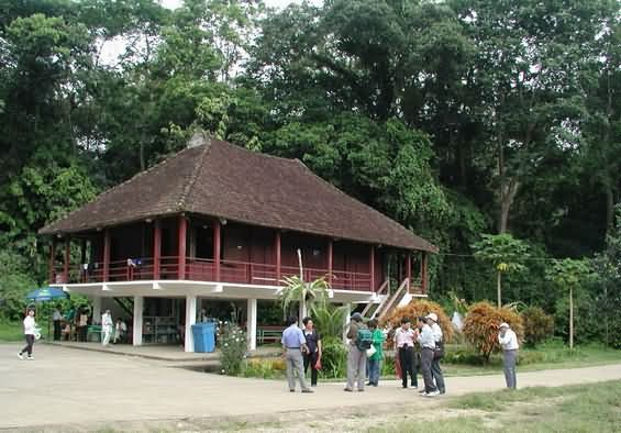 An special house in Cuc Phuong National Park.