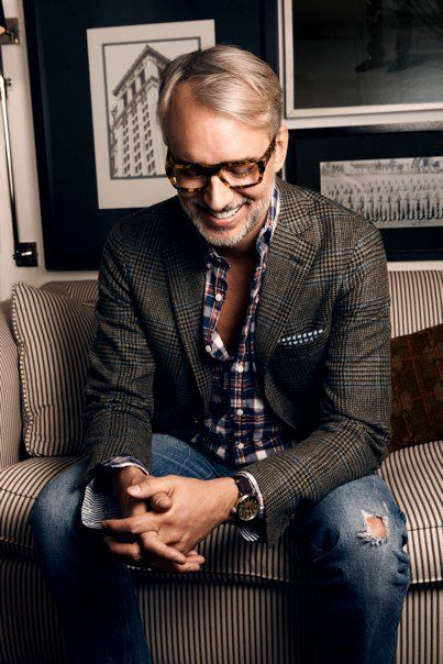 Style tip for wearing a sport coat with jeans: be Michael Bastian. Seriously, though, look at the shoulders on that jacket. (via MAWMB)
