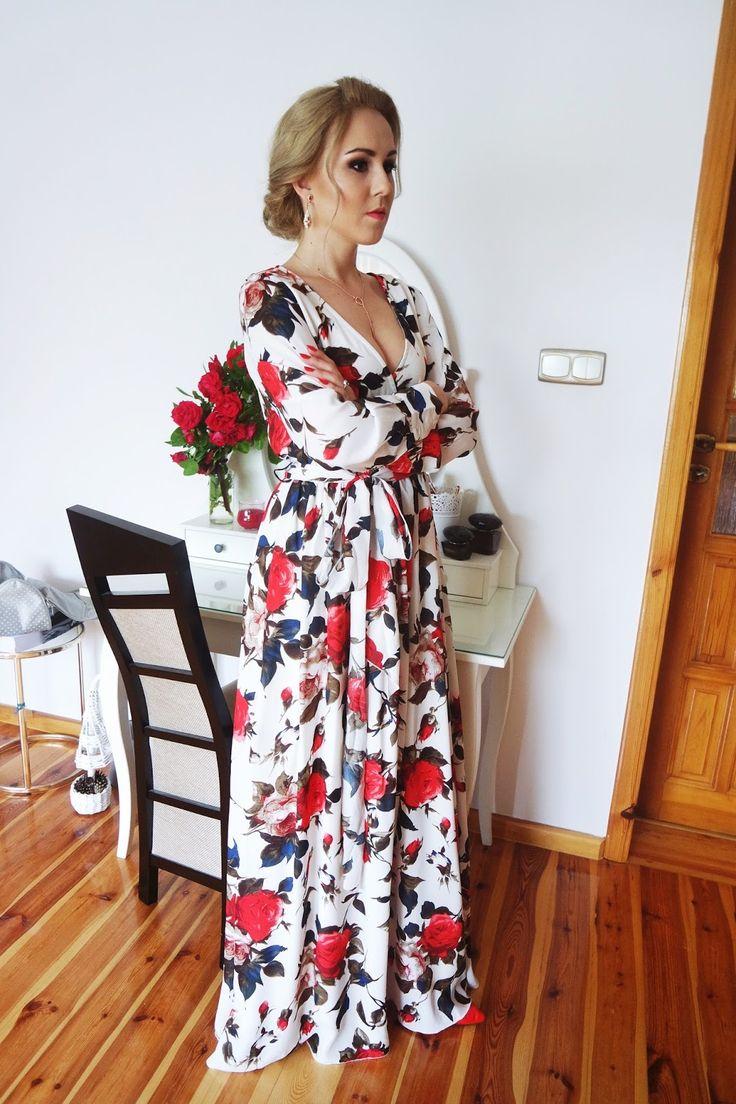 sukienka maxi w kwiaty, maxi dress, floral, flowers,