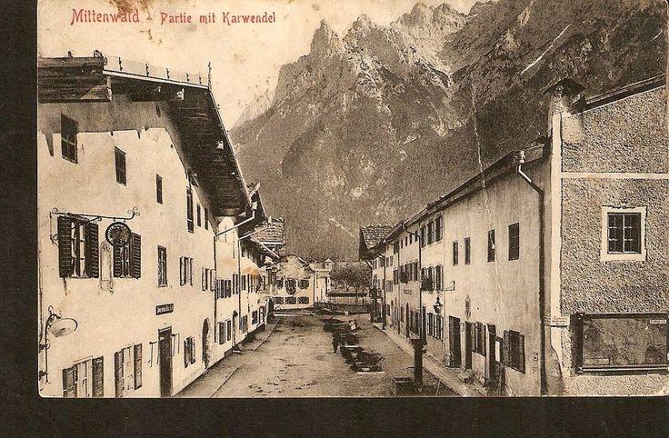 Germany Mittenwald Partie mit Karwendel 1903 by Stengel posted Mitten Hald 1910