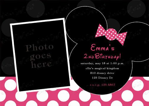 Best Invites Images On Pinterest Birthday Party Ideas Th - Minnie mouse birthday invitations blank