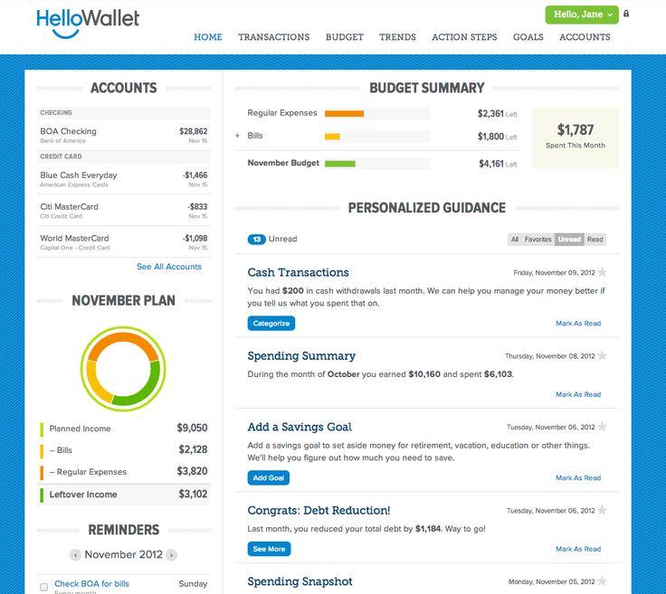 Best budgeting tools: HelloWallet