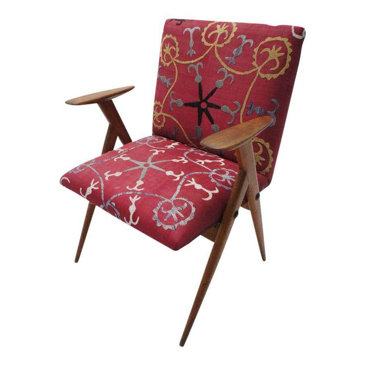 Vintage Suzani Upholstered French Occasional Chair