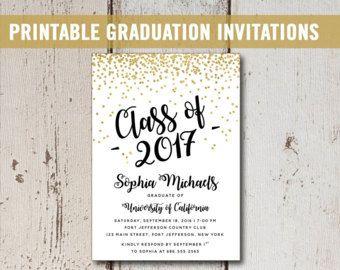 Uitnodiging voor diploma-College afdrukbare aankondiging van
