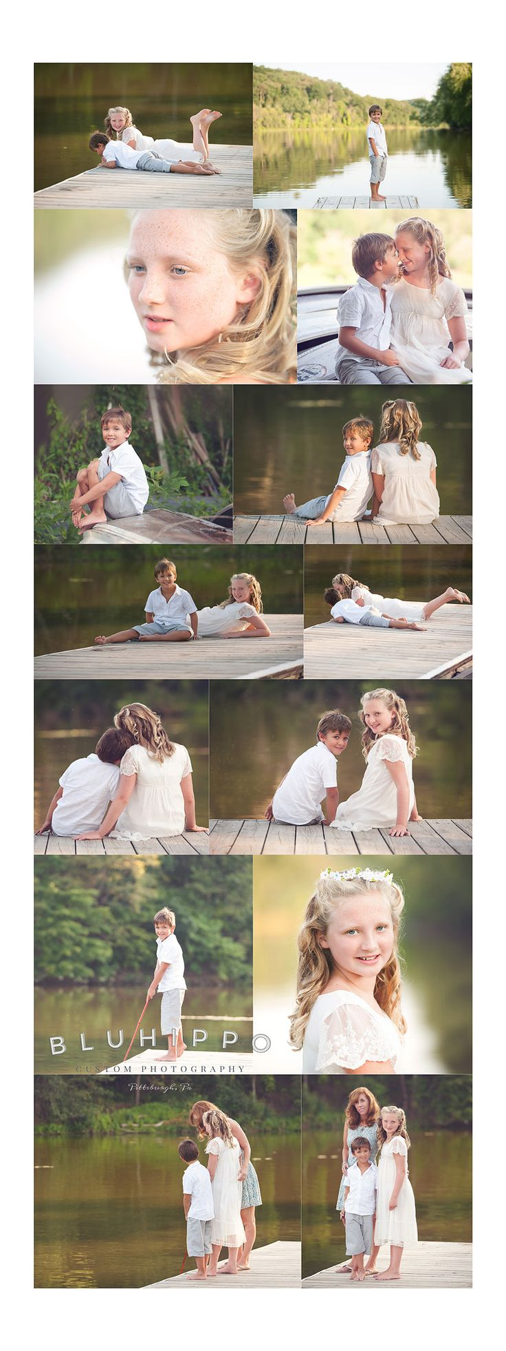 Bluhippo Photography Siblings on Dock