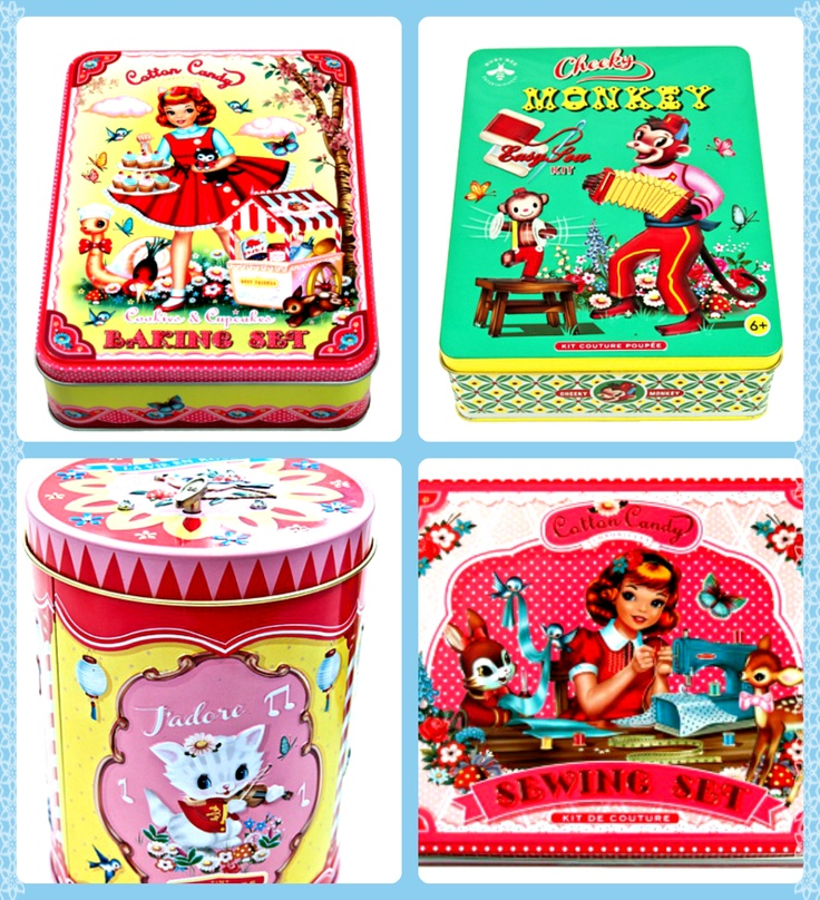 Retro Tin Sets! Available in store and here: http://www.ohbabylondon.com/index.php?act=viewCat=7