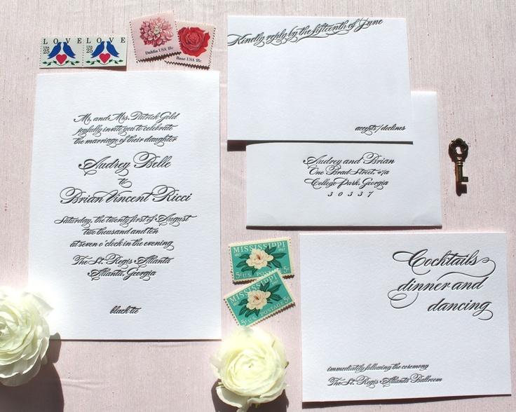 www.weheartpaper.com - We Heart Paper, Letterpress, Wedding Invitations, Stationery
