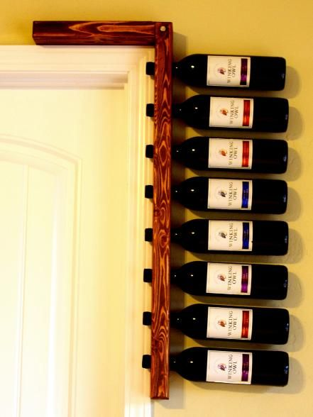 This rustic wine rack is anything but expected. Made by Cold Creek Brewing, it screws into the stud beside a door frame for sturdy construction that stands up to slamming doors. Guests will be as entertained by the storage solution as they are after two glasses of wine.