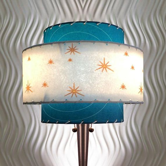 Best 25 custom lamp shades ideas on pinterest victorian lamp colors deep turquoise white with chalk peach lace white mid century modern style fiberglass lampshade this shade was handmade in our custom lighting greentooth Image collections