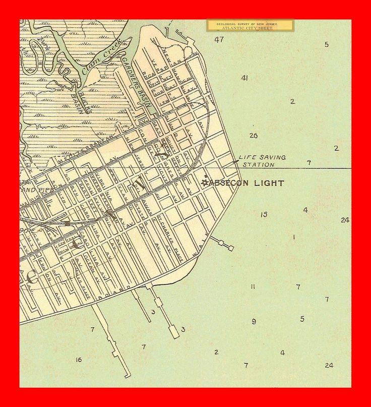 Geopolitical Map Us Atlantic City 1935 Atlantic City Nautical Charts Showing