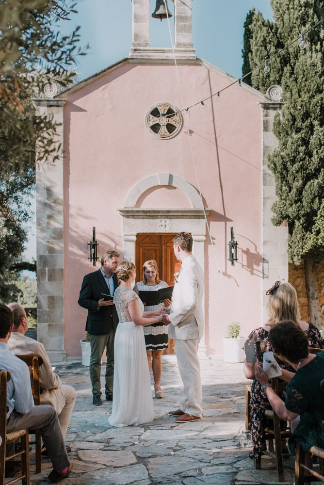 Outdoor Pastel Pink & Green Destination Wedding at Agreco in Greece