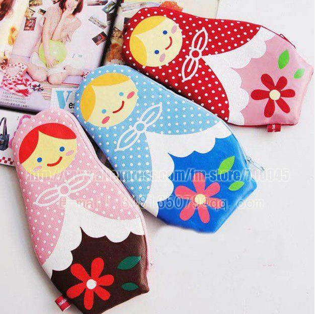 Creatieve en gratis shipping~! Russische poppen etui, pakket opslag, schattige, mode