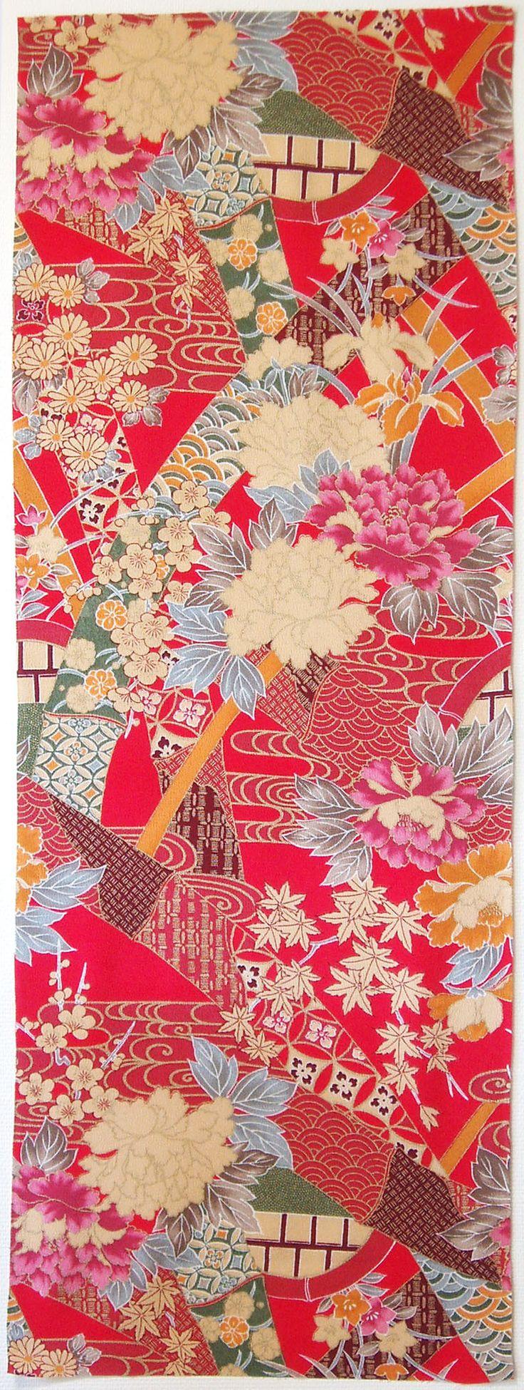 Japanese kimono textile                                                                                                                                                      More