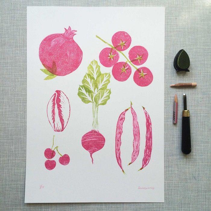 Linoprint / Wies van der Velde