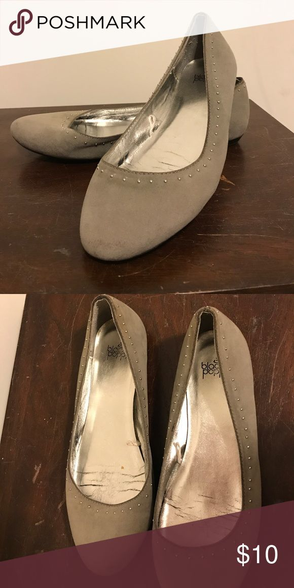 Pacsun's Black Poppy Gray Suede Studded Flats Great condition PacSun Shoes Flats & Loafers