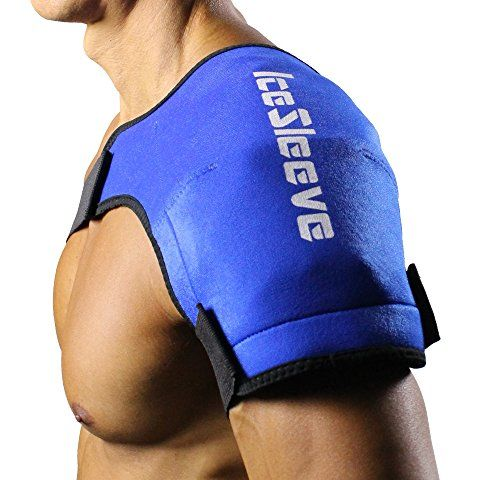 This is the original ice sleeve, specifically designed to help you recover faster from shoulder injuries and operations. The unique pocket design accepts hot and cold packs for thermotherapy or cryotherapy. Velcro style fasteners allow fast and easy application while providing an adjustable, comfortable fit. Comes with extra straps for different sizes. Use it with ice for cold therapy or hot packs for heat therapy. Click to read more. #cold #heat #therapy #shoulder #pain #fitness #sports…