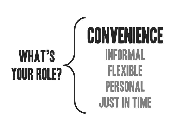 Convenience: What's you role?
