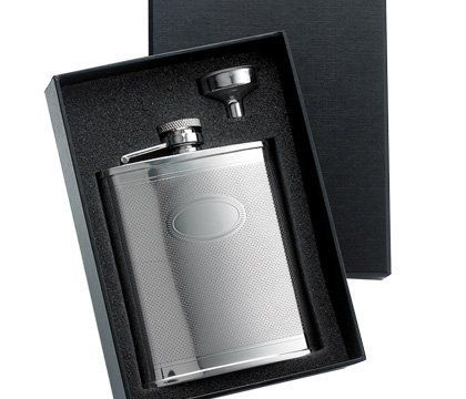 """Aeropen International GF-406 2 Pcs. Set - 6 oz. Checkered Pattern with Oval Center Stainless Steel Flask and Funnel in Black Gift Box by Aeropen International. $25.10. 6 Oz.. Stainless Steel.. Size: 5-1/8 x 7-1/8 x 1-3/4.. Imprinting Area: 3/4 W x 1/2 H.. Checkered.. Size: 5-1/8"""" x 7-1/8"""" x 1-3/4"""". Imprinting Area: 3/4"""" W x 1/2"""" H. Checkered. Stainless Steel. 6 Oz. Color(s): Silver.. Save 23%!"""