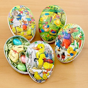 german paper eggs. I remember these from childhood easters