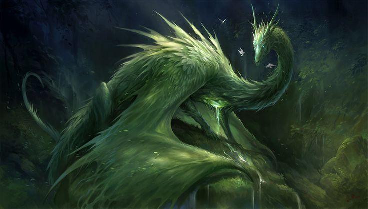 Green Crystal Dragon by sandara.deviantart.com on @DeviantArt