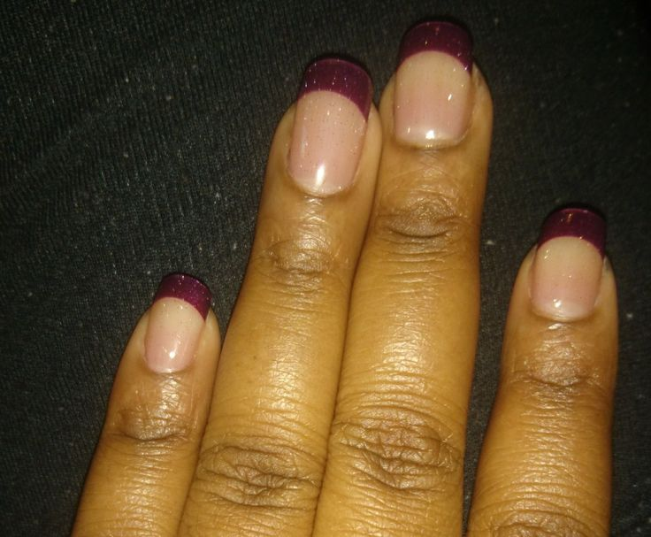 Felt like getting a French manicure, decided to go with purple💜