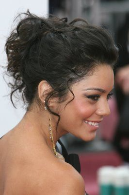 Curly Messy Bun With Front Poof Style As Normal Using
