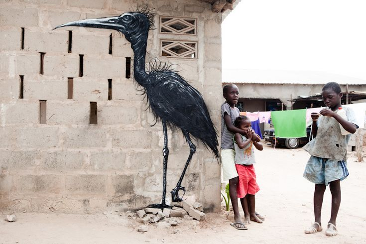 #streetart STREET ART UTOPIA » We declare the world as our canvasroa_street_art_gambia_14 Jonx Pillemer » STREET ART UTOPIA