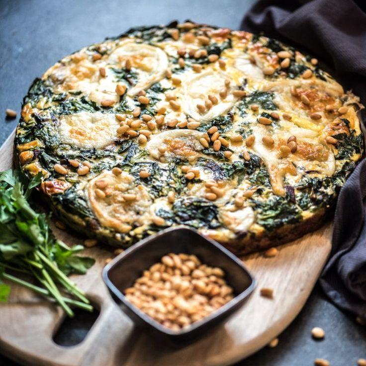 Koolhydraatbeperkte quiche met spinazie-Voedzaam & Snel