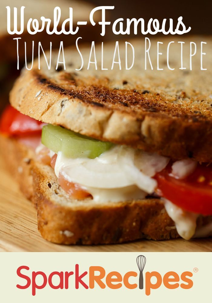 The BEST Tuna Salad Recipe. This recipe is so delicious, super healthy and contains a ton of protein! |via @SparkRecipes