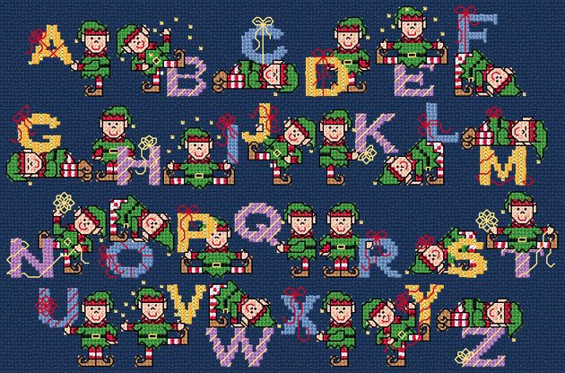 Playful Elves ABC The World of Cross Stitching Issue 104 Christmas 2005 Saved