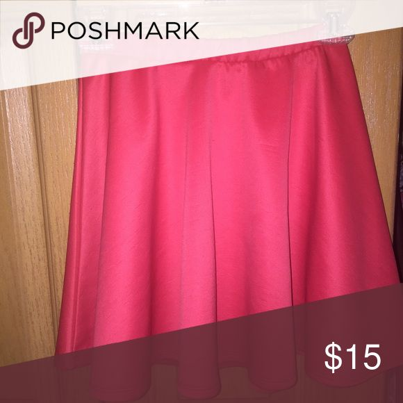 red skater skirt lightly worn size M Skirts Circle & Skater